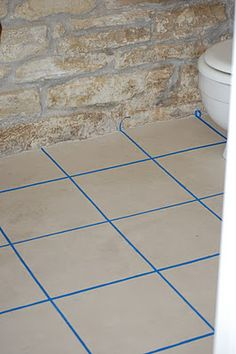 Love thi! how to paint on a tile floor!