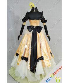 Vocaloid Cosplay Aku No Musume Kagamine Rin Dress Vocaloid Cosplay