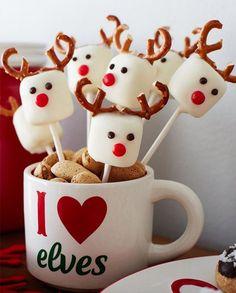 Marshmaloow Reindeer Pops