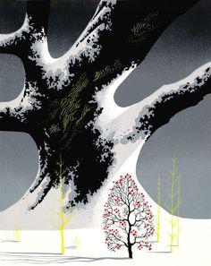 Eyvind Earle - Winter Oak