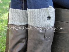 Button Down Boot CUFF for Women  Boot sleeve by SockSistersDesigns, $13.50