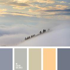 бежевый, оранжевый, оттенки заката, серо-фиолетовый, серый, темно-фиолетовый, фиолетовый, цвет камня, цвет тумана, цвет тумана в горах.
