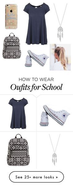 """last day of school vibes"" by fashionpassion2020 on Polyvore featuring Free People, Lucky Brand, Converse, Agent 18 and Vera Bradley"