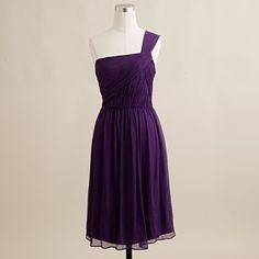 { Lucienne one-shoulder dress by J. Crew [ silk chiffon, $235 ] }