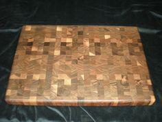 Walnut end grain cutting board End Grain Cutting Board, Cutting Boards, Butcher Block Cutting Board, Rolling Kitchen Island, Wood Projects, Grains, Fun, Wooden Cutting Boards, Wood Working