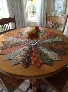 DIY Inspiration: Large Table Topper from old men's ties. by Jan Jendusa