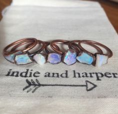 Australian Raw Opal and Copper Rings || Available in our MOST LOVED Collection