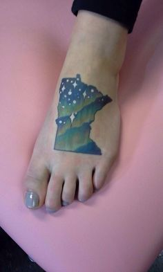 My Minnesota tattoo #MN #statepride #northernlights