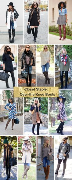 How to wear over the knee boots in real life! Love all this real girl inspiration.