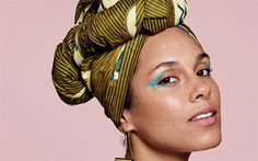 Download wallpapers Alicia Keys, American singer, portrait, make-up, beautiful woman