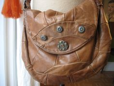 Rust Brown Soft Patchwork Leather Boho by HousewifeVintage on Etsy, $26.00