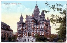The old City Hall in Winnipeg. Built in 1886 and torn down in 1962.
