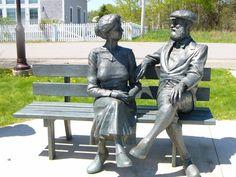 Mabel & Alexander Graham Bell, Baddeck, Cape Breton Island, Nova Scotia O Canada, Canada Travel, Alexander Graham Bell, Cabot Trail, Discover Canada, Canadian Things, Atlantic Canada, Cape Breton, Roadside Attractions