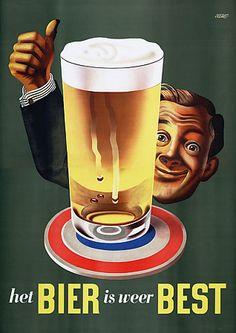 Vintage Beer is Best 1940s Drink Posters Prints