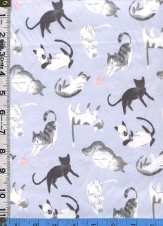 "Oxford Cotton Fabric Fresh Cat by the yards 44/"" cozy Fresh Cat"