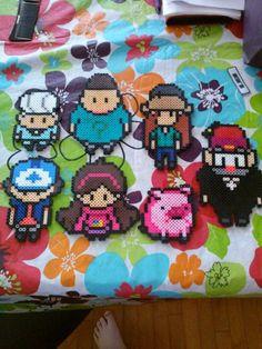Gravity Falls characters perler beads