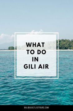 #bali #indonesia #gili things to do in gili Air