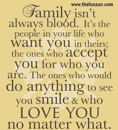 Loving someone is all the connection we need. Family is who we invite into our lives.