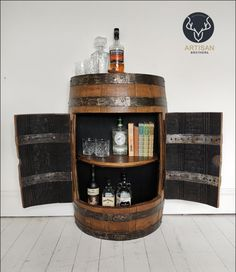 Cupboard Storage, Storage Cabinets, Prohibition Bar, Armoire, Barrel Furniture, Drinks Cabinet, My New Room, Man Cave, House Design