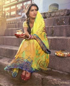 The Water Of Ganga are the Designer Digital Printed Sarees. These are pure georgette sarees. This collection is from Enchanting Divine Sarees. Bollywood Stars, Pure Georgette Sarees, Amazing India, Indian People, Printed Sarees, Saris, India Beauty, Indian Girls, Belle Photo