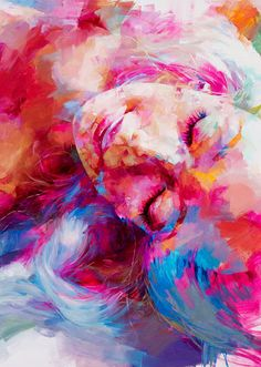 Dreaming Beauty Painting oil on canvas by peihang on flickr