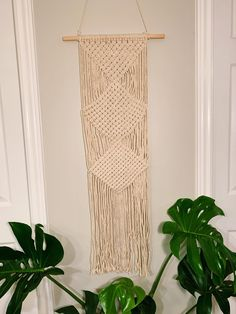 Check out the link in bio to purchase! Boho Fashion, Macrame, Glass Vase, Sweet Home, Wall, Etsy, Link, Check, Home Decor