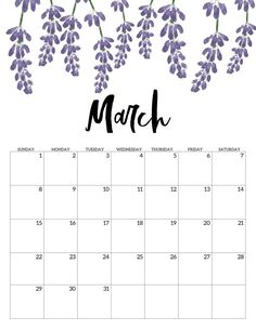 Home Remodel Fireplace March Free Printable Calendar 2020 - Floral. Monthly calendar pages. Cute office or desk organization. Calendar March, Printable Calendar 2020, Cute Calendar, Blank Calendar, Print Calendar, Calendar Pages, 2021 Calendar, Printable Planner, Free Printables