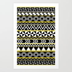 Yellow And Black Tribal Pattern