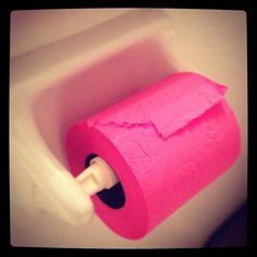 This is a thing?! I need this!! You can only wipe your pink with pink paper.