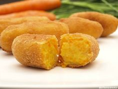 Croquetas de zanahoria Veg Recipes, Cooking Recipes, Healthy Recipes, Healthy Food, No Cook Appetizers, Good Food, Yummy Food, Mediterranean Recipes, Diy Food