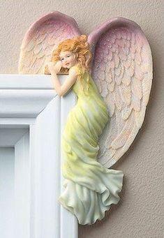 "Creative Irish Gifts ""Angel In Your Corner"" - Right Color Angel Decor, Angel Art, Sculpture Art, Sculptures, Garden Sculpture, Ceramic Angels, I Believe In Angels, Angel Pictures, Clay Art"