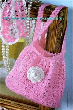 pretty in pink purse ~ free pattern**Lovin' Pink!!-especially in honor of Breast Cancer Awareness Month. Here's to you MOM! You fought the fight with hope & dignity for 8 yrs! You would have been 74 this Monday Oct. 6th. I Miss You but WILL see you in GLORY! xoxoxoxo