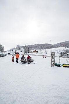 Snow in Metsovo, Greece