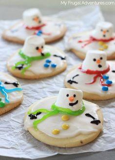 Melting Snowman Sugar Cookies - My Frugal Adventures