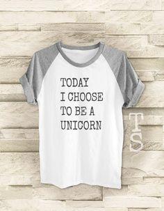 Oggi ho scelto di essere un'unicorno camicia di teesmile su Etsy
