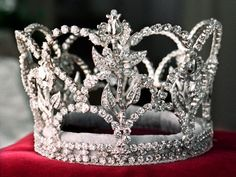 This crown, below, was commissioned for the 75th Rose Parade, it was only worn once.