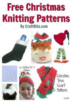 Christmas Knitting Patterns #freeknittingpatterns #knitting #christmas Knit Christmas Ornaments, Christmas Scarf, Kids Christmas, Christmas Knitting Patterns, Knitting Patterns Free, Free Knitting, Knitting Blogs, Knitting For Kids, Christmas Craft Projects