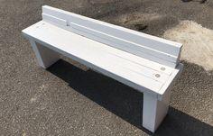 【店舗製作】敷居ベンチの凹んだトコに塗装するばい