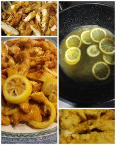 Pollo al limón estilo chino. Me encanta cocinar éstos platos en casa.