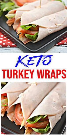 BEST Low Carb Turkey BLT Wrap Recipes – Keto Sandwiches – Healthy Ideas – Tasty Keto Turkey Roll Ups - KetoHere is a quick & easy homemade Turkey wrap keto sandwich recipe. If you are looking for a delicious, tasty turkey BLT for a low c Turkey Roll Ups, Turkey Wraps, Turkey Wrap Recipes, Roll Up Sandwiches, Healthy Sandwiches, Lunch Recipes, Diet Recipes, Healthy Recipes, Smoothie Recipes