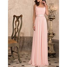 Prom/Military Ball/Formal Evening Dress Sheath/Column Scoop Floor-length Chiffon Dress – USD $ 89.99