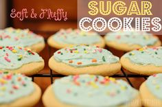Soft and Fluffy Sugar Cookies - close copycat to store bought sugar cookies!