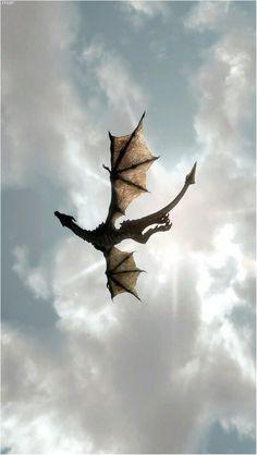 A dragon flying