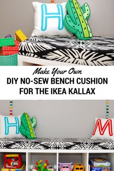 IKEA Hack: Turn Your Kallax into a Bench with an Easy No-Sew Cushion