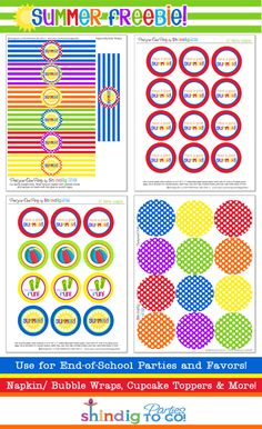 Free printable for end of summer treat-classroom