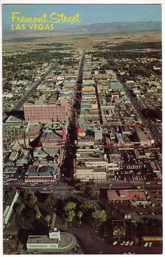 Fremont Street back in the day. www,all-chips.com has chips from all these Casinos for sale.