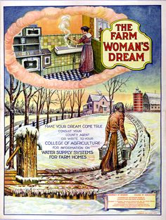 When Dad's parents moved off the farm into town, he and his Father drove to Lincoln to find used plumbing fixtures at the dump so his Mother would have running water in her kitchen. Vintage Prints, Vintage Ads, Vintage Posters, Vintage Stuff, Old Advertisements, Retro Advertising, Retro Ads, Ww2 Posters, Food Posters