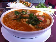 Vietnamese seafood noodle soup