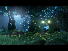 Enchanted forest of fireflies animation (Blender 3D) - YouTube