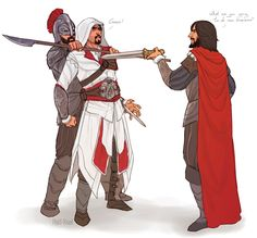 Anonymous said: Could you do one were Ezio gets captured by Templars please
